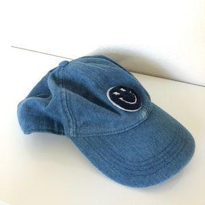Lucky Brand Men's Smiley Face Baseball Hat
